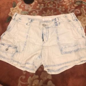 Anthropologie light wash lightweight shorts
